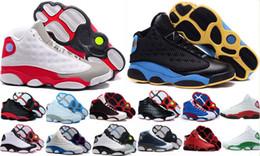 Wholesale 13s holograma flints cinza tênis de basquete mens 13 calçados esportivos (branco / preto / cinza / verde-azulado) tênis ao ar livre 4-5-6-7-9-10-11-12 cheap teal suede shoes de Fornecedores de sapatos de camurça