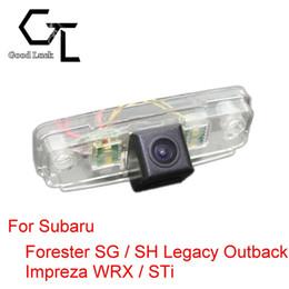 câmera vermelha mais barata Desconto Para Subaru Forester SG / SH Legado Outback Impreza WRX / STi Carro Sem Fio Auto Backup CCD Reversa HD Visão Noturna Câmera de Visão Traseira