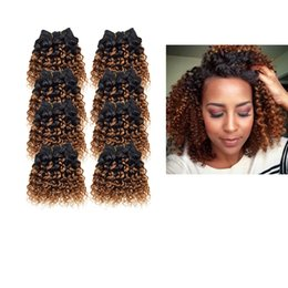 Wholesale Short Kinky Curly - 8pcs lot 400g 50g pc Brazilian Short Size Kinky Curly Human Hair Extension