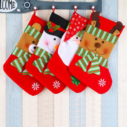 Wholesale Extra Large Gift Bags - 4Pcs  Lot Hot Sale New Year Extra Large Christmas Stocking Snowman Bag Gift Sock Ornament Socks Christmas Tree Ornaments Supplies