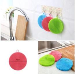 Wholesale Purpose Cleaner - Round Shape Dish Washing Brush Washing Fruit Vegetable Multi-purpose Food Grade Silicone Cleaning Dishwashing Brush