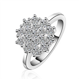 Wholesale cheap stones for rings - Engagement Ring Women Wedding Rings with Gift Box Fashion Jewelry For Girls Quality Cheap Zircon With White Crystals RG-052