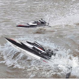 Wholesale H Boat - Wholesale-FeiLun FT012 High Speed RC Racing Boat Brushless Fast Self Righting RC Boat 45km h VS FT011 FT010 FT009 Remote Control Boat Mode