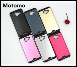 Wholesale Hard Case For Iphone5 - Motomo Ultra Thin Brush Aluminium Metal Case with hard PC Cover Case for iphone5 6S PLUS Samsung J1 ACE J2 J3 J5 J7 J120 J510 J710 A510 A710
