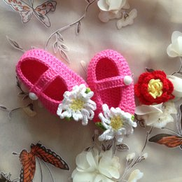 Wholesale Crochet Shoes Baby Prices - Hot Sale Crochet Baby boy Sandals,Summer Handmade Crochet Baby Shoes chrysanthemu Flower Best Price and High Quality Free Shipping