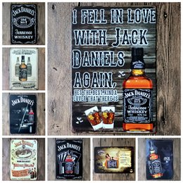 Wholesale Aluminum Alloy Metal Home - lastest 20*30cm i fell in love with jack daniels Tin Sign Coffee Shop Bar Restaurant Wall Art decoration Bar Metal Paintings