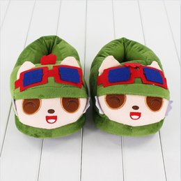 Wholesale Doll League Legends - 26cm League of Legends Teemo Slippers plush Soft Doll Toy birthday Christmas gift free shipping EMS