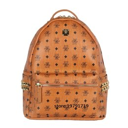 Wholesale Rivet Solid - 2017 New Design Double-shoulder School Bag Preppy Style Trend Vertical Canvas Women Printing Backpacks