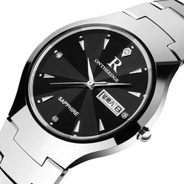 Wholesale Tungsten Watches For Men - Wholesale Tungsten Watch Casual Business Quartz Wristwatch for Men High Quality Ultra-thin Analog Waterproof Couple Student Watch