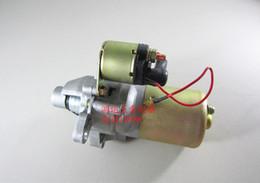 Wholesale Starter Motor Electric - Electric starter motor for Honda GX160 GX200 168F free postage 12V 0.25KW cheap starter generator OEM part# 31210-ZE1-023