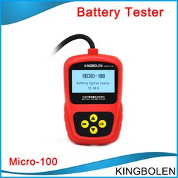 Wholesale chrysler car battery - Top Multi-language Car Battery System Tester MICRO-100 for 12V Auto battery tester tool 100% original micro 100 free shipping
