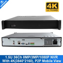 Argentina 1.5U Cámara 36 Channel 8MP / 3MP / 1080P NVR Soporte 36ch 4K (4096 * 2160) /5.0MP/ IP Cámaras Onvif P2P Nube Goolink Ver channel support promotion Suministro