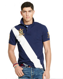 Wholesale tommy fashion - New 2017 Hot Sale New Fashion Brand Men Top quality Tommy Embroidery Polo shirt Solid Color Short-Sleeve Shirt Men Cotton polo Shirts Casual