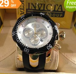 Wholesale Multifunctional Wristwatch - Three Eyes Working Multifunctional Sports Watches INVICTA Fashion Mens Watches Hot Selling Date Male Wristwatch Chronograph Men Drop Shippin