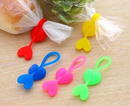 Wholesale Bread Clips - New Arrive Food grade Silicone Bag Ties, Cable Management, Zip Tie Twist, Multi-use Bag Clip, Bread Tie, Food Saver