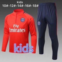 Wholesale Belted Suit Jacket - AAA+ quality kids 2017 NEYMAR JR ajax survetement futbal tracksuits 2018 RONALDO MILIK pogba ajax training child suit jacket kit