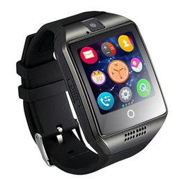Wholesale Pet Camera Iphone - Smart Watches Q18 Bluetooth Smartwatch for Apple iPhone IOS Samsung Android Phone with SIM Card Slot Wristbands GPS Smart Watch Dropshipping