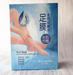 foot sheet Coupons - Milk Bamboo Vinegar Feet Mask remove dead skin Rolanjona Feet Mask Moisturising feet skin exfoliating feet mask foot remove old skin