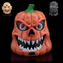 Wholesale Plastic Bar Supplies - 2016 NEW Halloween Party Supplies High-End Voice-Activated Sensor Bar Lights Pumpkin Ghost Plastic Party Props Free Shipping