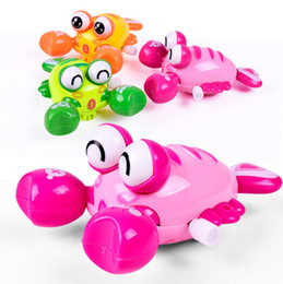Wholesale animal wounds - Infant Cute Cartoon Animal Clockwork crawfish Baby Bath Toys Newborn Crawling Wind UpToy Educational Kids Classic Toy Random Color