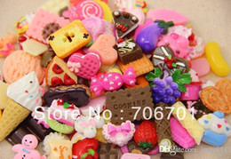 Wholesale Dessert Cabochons - Mix Styles Flat back Resin Dessert Cabochons Resin Food Jewelry   Mobile phone DIY Accessory by 100pcs lot