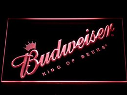 Wholesale Led Budweiser Signs - 002 Budweiser LED Neon Sign Bar Beer Decor Free Shipping Dropshipping Wholesale 7 colors to choose