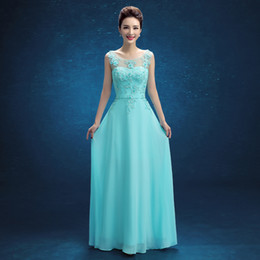 Wholesale Quinceanera Ladies Ball Gowns - Brand New Evening Dresses V-Back Elegant Chiffon Bride Gown Ladies Women Girls Long Ball Prom Party Graduation Formal Dress