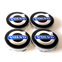 Wholesale Emblem Wheel Center - 4pcs set 60mm alloy volvo wheel center caps hub cover car emblem badge blue C30 C70 S40 V50 S60 V60 V70 S80