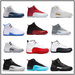entraîneur de chaussures de basket-ball rétro Promotion Air Retro 12 Chaussures de basket-ball pour homme The Master OVO French Blue Gym-Red Retros 12s Sneakers Athletic Trainers Chaussures de sport pour hommes US 8-13