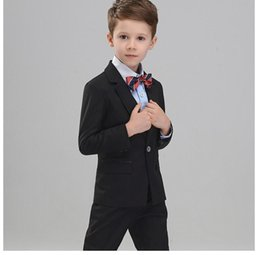 Wholesale White Dress Vest For Boys - Custom made Boys Party Dresses Boy Tuxedos One Button Formal Boys Suits for Prom Wedding boys wedding suit (jacket+pants+vest)