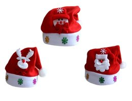 Wholesale Cute Christmas Hats - New Christmas Decoration hats High-grade Christmas hat Santa Claus hat Cute adults Christmas Cosplay Hats 60 p l