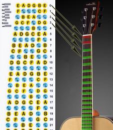 Cous de guitares acoustiques en Ligne-T1213121 ultra-mince guitare acoustique guitare électrique manche doigtée échelle musicale autocollants guitare pièces instrument accessoires 5pcs