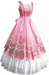 Wholesale Belle Adult Costume - (GT023) New SummerGothic Lolita Dress Halloween Victorian Medieval Dress Southern Belle Costumes For Adults S M L XL XXL