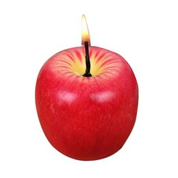 Wholesale Scented Gift Candles Wholesale - Christmas Gift Emulational Apple-shaped Fragrant Candle Christmas' Eve Gift Big Size by Friends Equipments