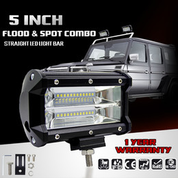 Wholesale Led Driving Lights 4wd - 5 inch 72W CREE Chips LED Work Light Bar Offroad Flood Beam Led Work Lights Truck SUV ATV 4x4 4WD 12v 24v Led Driving Lamp