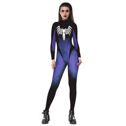 Wholesale Women S Exaggerated - 2017 New Venom spider Women Jumpsuit European And American Fashion Long Sleeve Rompers Exaggerated Skinny Sexy Women Rompers