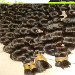 Wholesale Deep Wave Braid Hair - 100% Virgin Indian Braids braiding crochet bulk Human Hair Loose Deep wave curly 300g lot Full Bundles Sister Buy Many