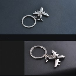 Wholesale Unique Planes - Unique 3D plane alloy Key Chain keychains Key chain keyring ring 3D plane Model Aircraft Keyfob Battleplane fighter plane