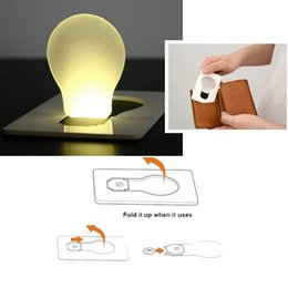 Wholesale Wholesale C7 Bulbs - New Design Portable LED Card Pocket Light bulb Lamp Wallet Size Free Shipping NVIE