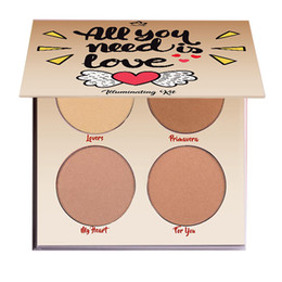 Wholesale Green Highlighters - Aurelife iluminador maquiagem Bronzer & Highlighter Palette ALL U NEED LOVE Kit Women Sexy Makeup Pallete
