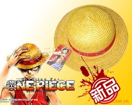 Wholesale Monkey D Luffy Cosplay - Wholesale-One Piece Strawhat Cosplay Hat Monkey D Luffy Cosplay Props Animation Hot Accessories Anime Cosplay Hat