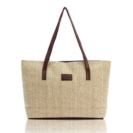 Wholesale Ladies Canvas Shoulder Bag Sale - Women Handbag Canvas Shoulder Bag Portable Bag Large Capacity Lady Shopping Linen Casual Totes 2016 Hot Sale Style Free Shipping