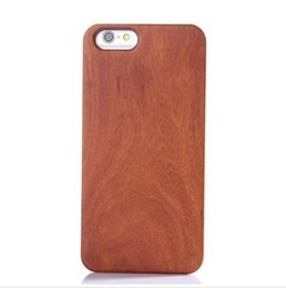 Wholesale Iphone Case Hybrid Vintage - For iPhone6 Genuine Real Natural Wood Wooden Case Hybrid 2 in 1 Wood + PC Vintage Retro Hard Case Cover For iPhone6 4.7 Plus 5.5 Inch DHL