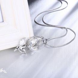Wholesale White Opal Earings - New Rhinestone Fancy Stone Necklace Pendant&earings Silver Plated Rainbow Bud Opal Shiny Mystic Topaz Jewelry For Women