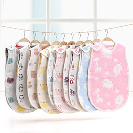 Wholesale Wholesale Baby Sleepers - newborn baby boutique clothing baby clothes baby girls clothes set 6 layers cotton cloth baby boy clothing baby all-in-one sleeper suits