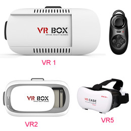 "Wholesale Virtual Movies - 2016 Head Mount Plastic VR BOX Version VR Virtual Reality Glasses Rift Google Cardboard 3D Movie for 3.5"" - 6.0"" Smart Phone DHL Free OTH161"