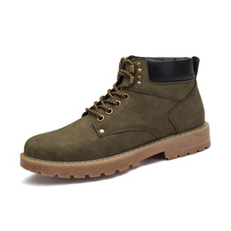Wholesale New Products Grains - 2017 New Dsign Product Fashion Boots Men Lace-up Hard-wearing Warm And Comfortable Casual Boots Normal Size Work Safety Shoes men