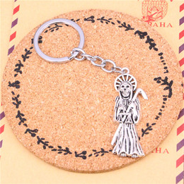 Wholesale Death Pendants - Keychain grim reaper death Pendants DIY Men Jewelry Car Key Chain Ring Holder Souvenir For Gift