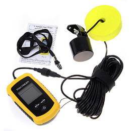 Wholesale Wholesale Fish Depth Finders - Portable Fish Finder Sonar Wired LCD Fish Sonar Sounder Depth Finder Alarm 100M Electronic Fishing Tackle Bait Tool High Quality 2508020