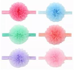 Farbtiara online-Headwear Umweltschutz Organzaband Haarband Stirnband Baby Blumen gewebt Kreuz Haarband Haarschmuck 6 Farbe